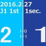 2016 1st ステージ 第1節(H)アビスパ福岡戦
